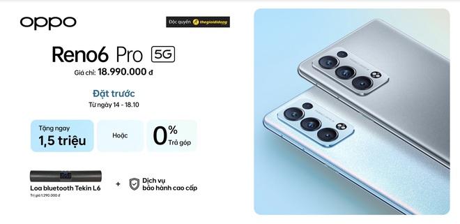 OPPO Reno6 Pro ra mắt tại VN: Nâng cấp hiệu năng và camera, giá 19 triệu đồng kèm nhiều quà - Ảnh 5.