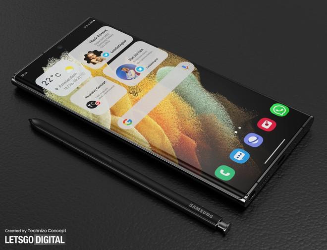 Ảnh thiết kế Galaxy S22 Ultra với bút S Pen: Thế này thì cần gì Galaxy Note - Ảnh 6.