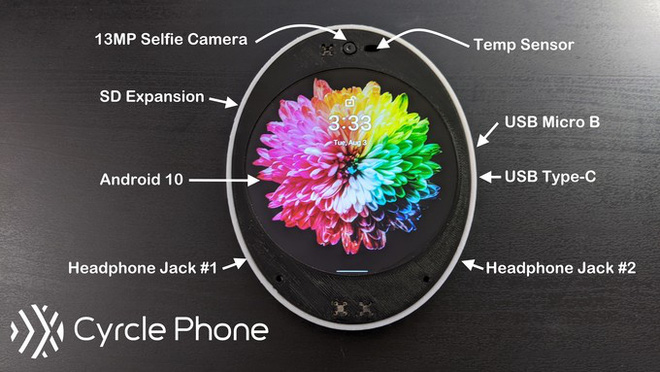 Kỳ lạ chiếc smartphone thân tròn, màn hình cũng tròn, có đến 2 jack 3.5mm, hai cổng USB - Ảnh 2.