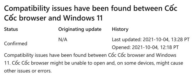 Ứng dụng Việt nổi tiếng được Microsoft xác nhận gặp vấn đề với Windows 11 - Ảnh 2.
