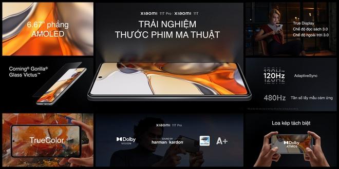 Xiaomi 11T series 5G ra mắt tại VN: Màn hình AMOLED 120Hz, camera nâng cấp chất lượng, sạc nhanh 120W, giá từ 10.9 triệu đồng - Ảnh 1.