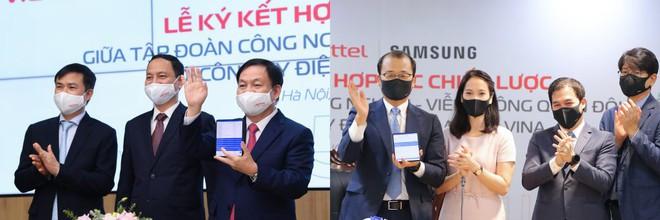 Samsung và Viettel ký kết hợp tác chiến lược thúc đẩy chuyển đổi số - Ảnh 1.