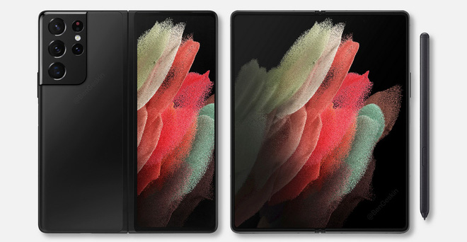 Ảnh render chất lượng cao của Galaxy Z Fold 3 gợi mở khả năng tương đồng thiết kế với Galaxy S21 Ultra? - Ảnh 2.