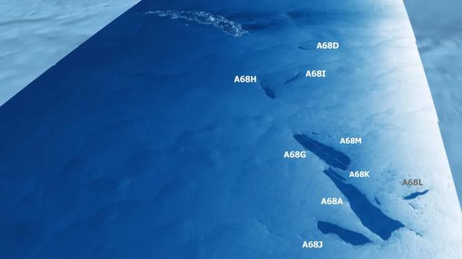Tảng băng trôi lớn nhất từng được ghi nhận vỡ ra thành vô số mảnh, từng dài rộng cả trăm kilomet giờ chỉ còn ... vài chục kilomet - Ảnh 2.
