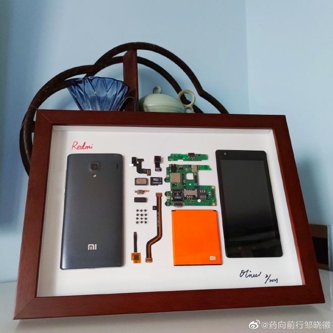 CEO Xiaomi ngưỡng mộ cậu bé 9 tuổi tự tay tháo rời Redmi 1, đóng khung thành tác phẩm nghệ thuật - Ảnh 3.