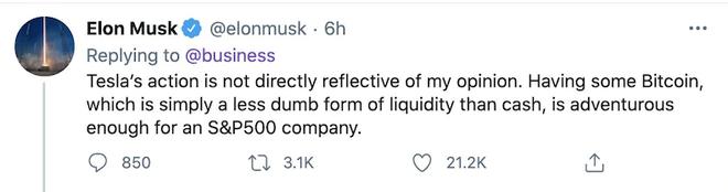 Elon Musk tiết lộ lý do Tesla đầu tư 1,5 tỷ USD vào Bitcoin - Ảnh 1.