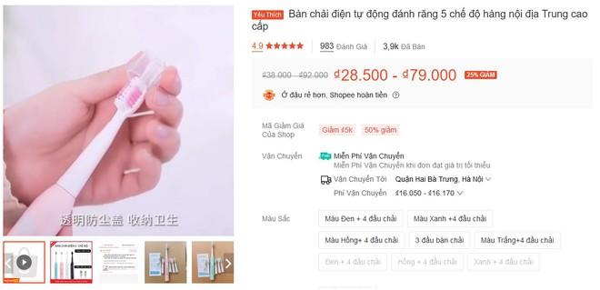 Chỉ 50k là mua được bàn chải điện nội địa Trung, chúng tôi đã thử và đây là kết quả - Ảnh 1.