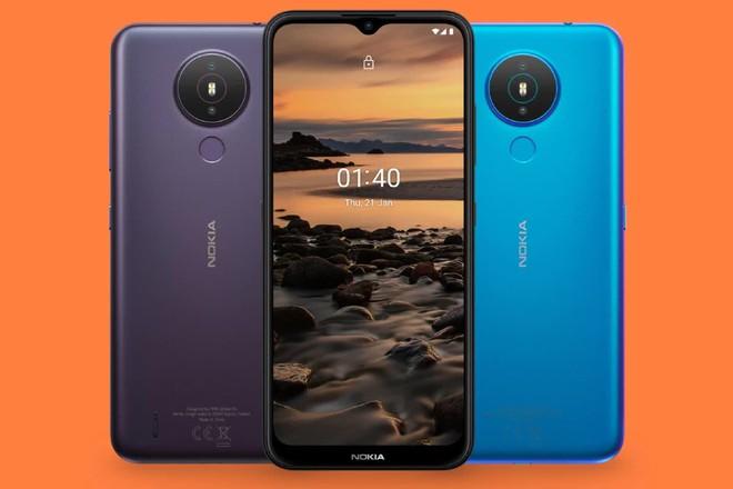 Smartphone giá rẻ Nokia 1.4 chính thức ra mắt: Có camera kép, pin 4.000 mAh, giá 120 USD - Ảnh 1.