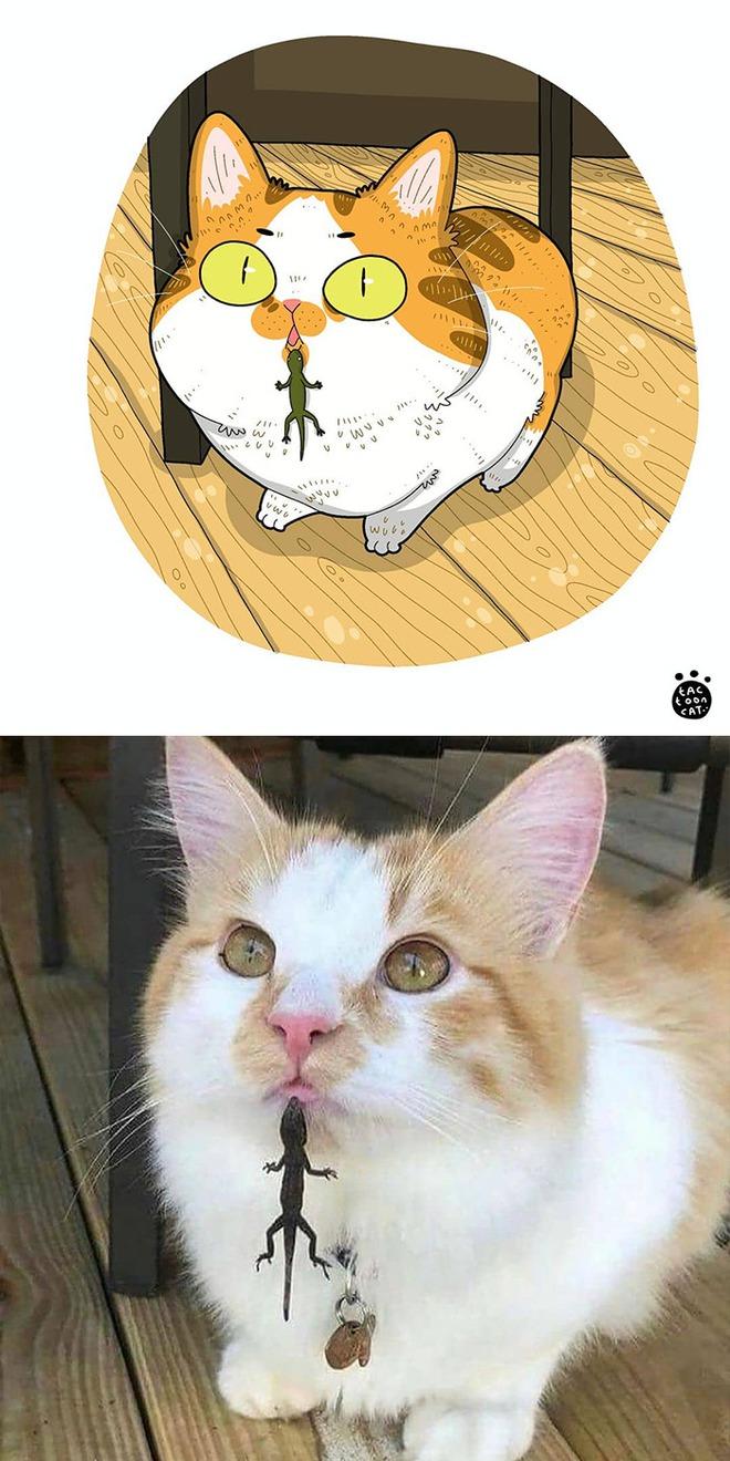 [Chùm ảnh vui] Khi ảnh meme của các boss mèo được vẽ lại siêu đáng yêu khiến ai xem xong cũng phải mỉm cười - Ảnh 6.