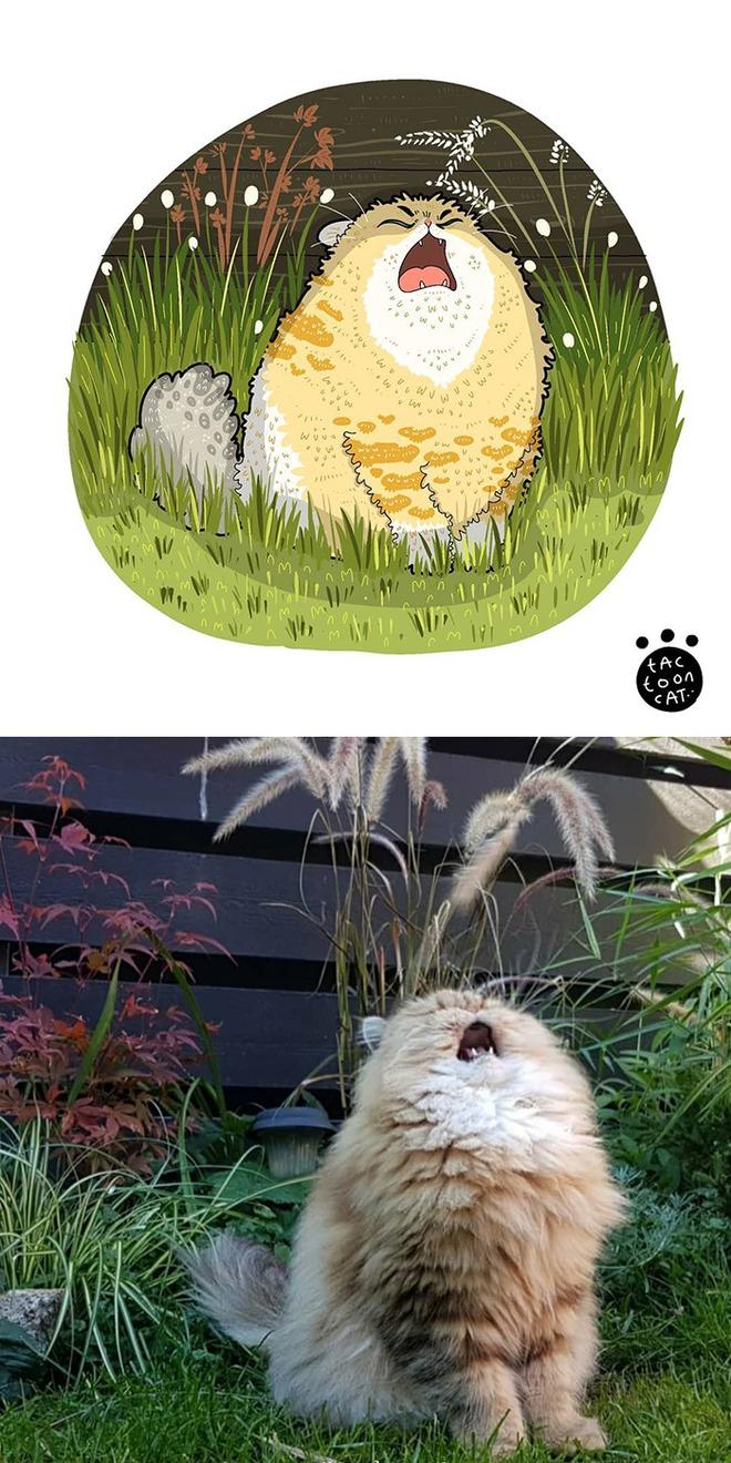 [Chùm ảnh vui] Khi ảnh meme của các boss mèo được vẽ lại siêu đáng yêu khiến ai xem xong cũng phải mỉm cười - Ảnh 20.