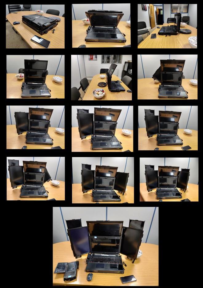 Cận cảnh laptop đầu tiên trên thế giới với... 7 màn hình: Cấu hình siêu khủng, nặng 12Kg, người mua không được tiết lộ giá bán - Ảnh 4.