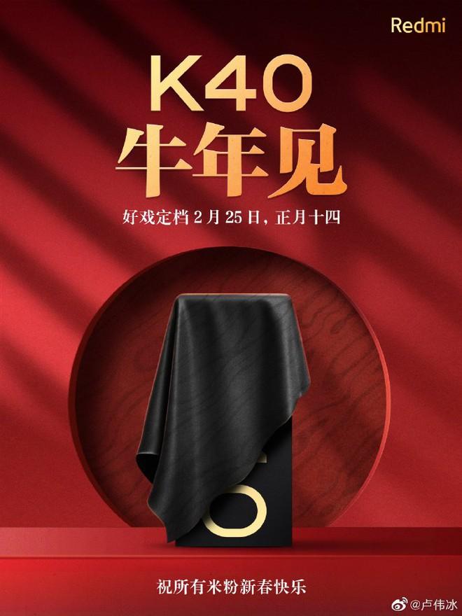 Redmi K40 sẽ ra mắt vào 25/2 tới: Snapdragon 888, cũng bảo vệ môi trường như Mi 11 - Ảnh 1.