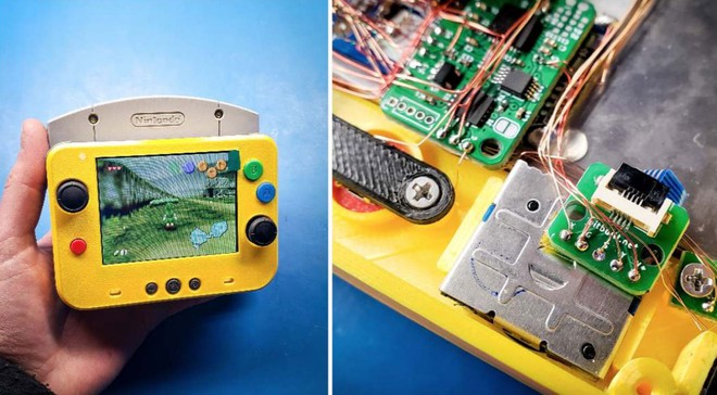 Game thủ chế máy chơi game Nintendo 64 thành phiên bản siêu nhỏ gọn, vừa in trong lòng bàn tay - Ảnh 1.