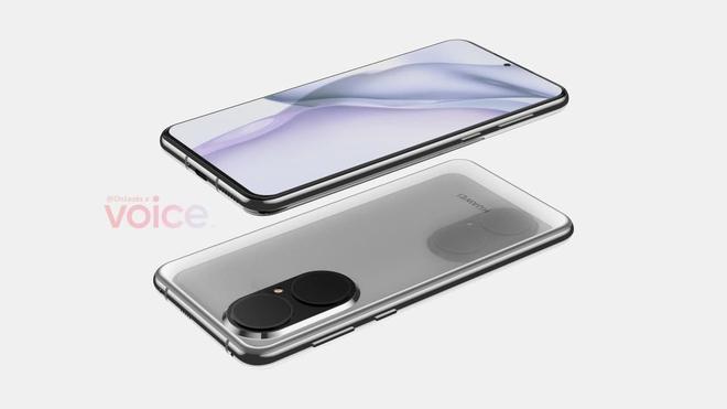 Huawei P50 lộ ảnh render chi tiết với màn hình phẳng và camera thiết kế mới - Ảnh 4.