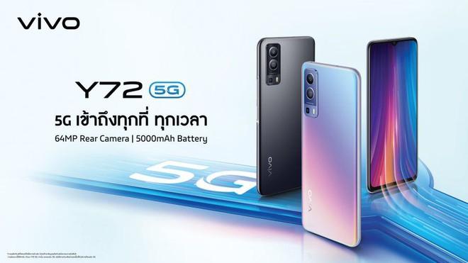 Vivo Y72 5G ra mắt: Dimensity 700, 3 camera sau 64MP, pin 5000mAh, giá 7.5 triệu đồng - Ảnh 1.