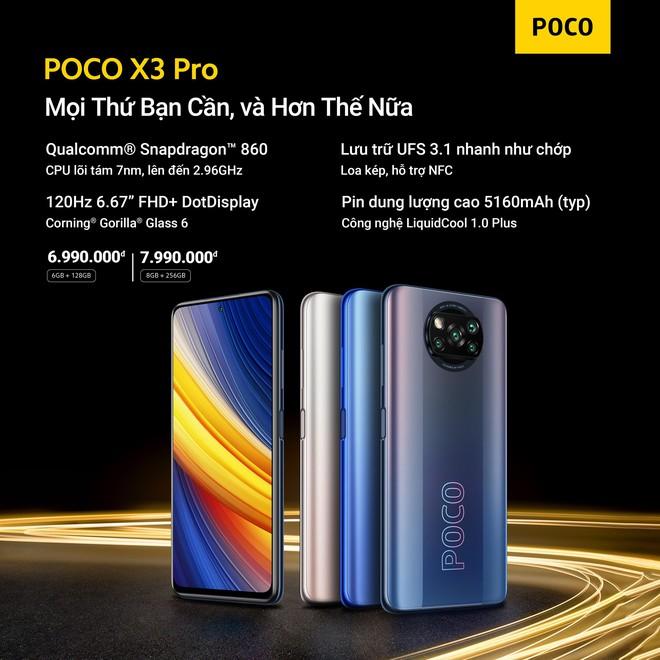 POCO F3 và POCO X3 Pro ra mắt tại VN: Snapdragon 870/860, màn hình 120Hz, giá từ 9.99/6.99 triệu đồng - Ảnh 4.