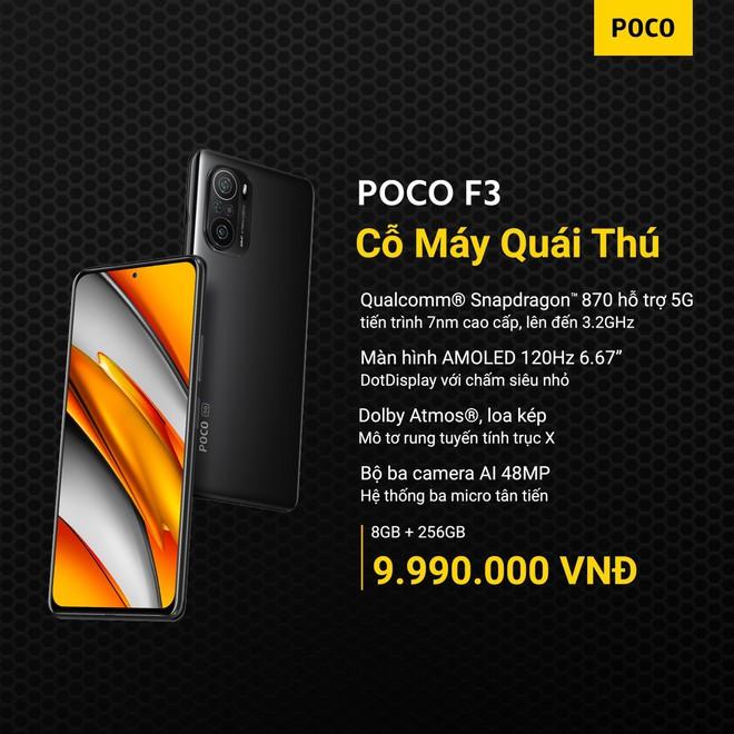 POCO F3 và POCO X3 Pro ra mắt tại VN: Snapdragon 870/860, màn hình 120Hz, giá từ 9.99/6.99 triệu đồng - Ảnh 1.