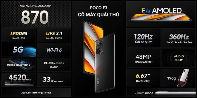 POCO F3 và POCO X3 Pro ra mắt tại VN: Snapdragon 870/860, màn hình 120Hz, giá từ 9.99/6.99 triệu đồng - Ảnh 2.