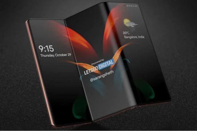 Samsung đang phát triển một chiếc smartphone gập 2 lần, có thể ra mắt ngay trong năm nay - Ảnh 1.