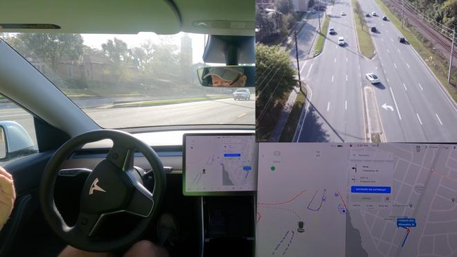 Để xe Tesla tự rẽ trái sang đường, tài xế suýt gặp tai nạn kinh hoàng - Ảnh 1.