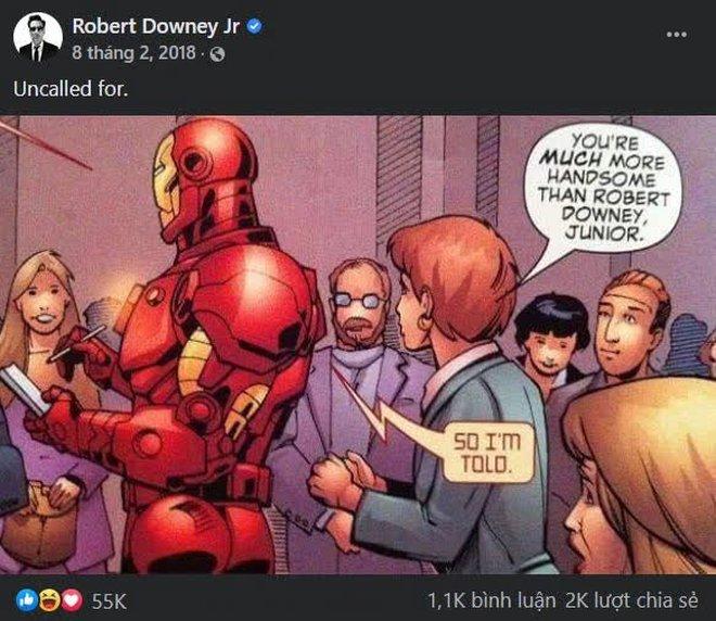 """Marvel Comics """"troll"""" Robert Downey Jr. không đủ đẹp trai để vào vai Iron Man, 10 năm sau RDJ mới thèm trả lời - Ảnh 3."""