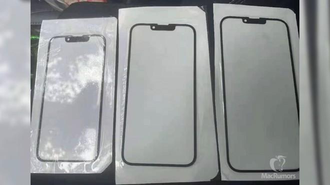Lộ mặt kính của iPhone 13, xác nhận rãnh tai thỏ nhỏ hơn - Ảnh 1.