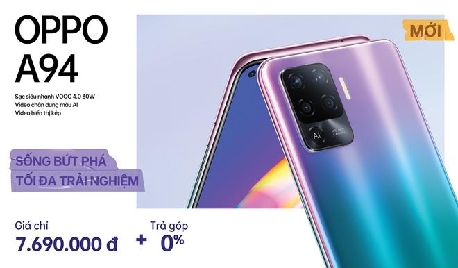 OPPO A94 ra mắt tại VN: Màn hình AMOLED, camera 48MP, Helio P95, pin 4310mAh, giá 7.69 triệu đồng - Ảnh 3.