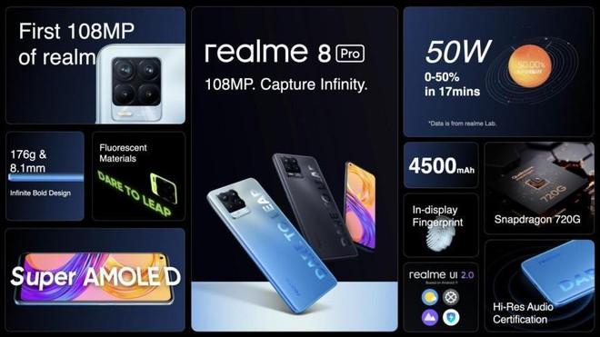 Realme 8 và Realme 8 Pro ra mắt: Camera chính 108MP, sạc nhanh 50W, giá từ 4.8 triệu đồng - Ảnh 3.