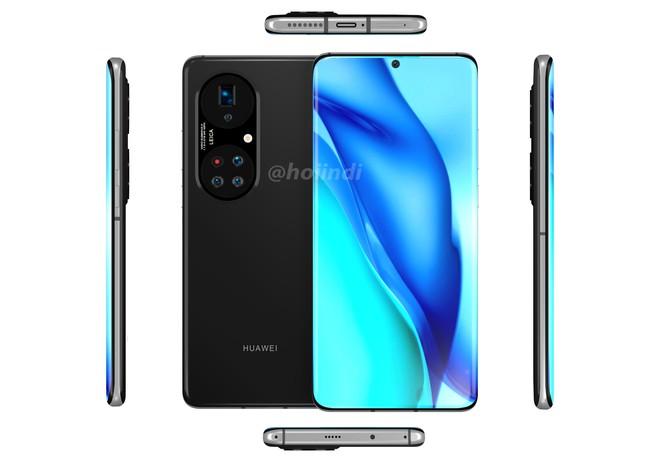Huawei P50 Pro+ lộ diện: Màn hình thác nước, cụm 5 camera hình bầu dục siêu to khổng lồ - Ảnh 6.