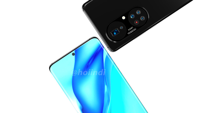 Huawei P50 Pro+ lộ diện: Màn hình thác nước, cụm 5 camera hình bầu dục siêu to khổng lồ - Ảnh 3.