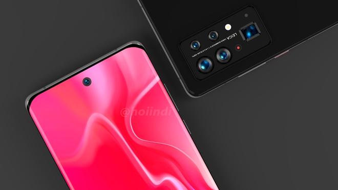 Huawei P50 Pro+ lộ diện: Màn hình thác nước, cụm 5 camera hình bầu dục siêu to khổng lồ - Ảnh 5.