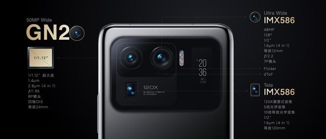 Xiaomi Mi 11 Ultra ra mắt: Mặt lưng gốm, hai màn hình AMOLED, camera zoom 120X, sạc nhanh 67W, chống nước IP68, giá từ 21 triệu đồng - Ảnh 6.