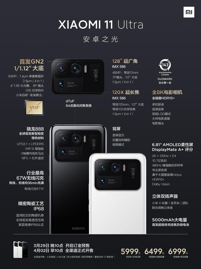 Xiaomi Mi 11 Ultra ra mắt: Mặt lưng gốm, hai màn hình AMOLED, camera zoom 120X, sạc nhanh 67W, chống nước IP68, giá từ 21 triệu đồng - Ảnh 9.