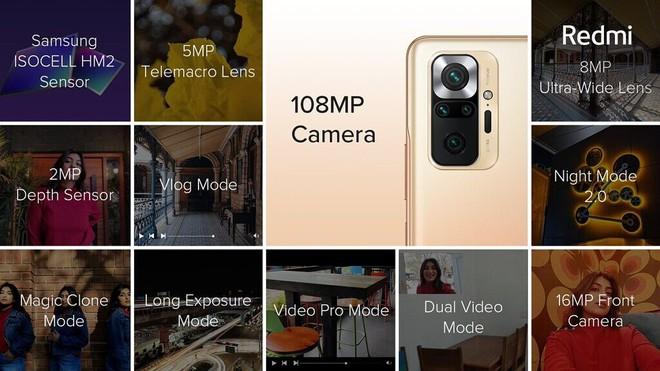 Redmi Note 10 series ra mắt: Snapdragon 678/732G, màn hình AMOLED 120Hz, camera lên tới 108MP, pin 5000mAh, giá chỉ từ 3.8 triệu đồng - Ảnh 5.