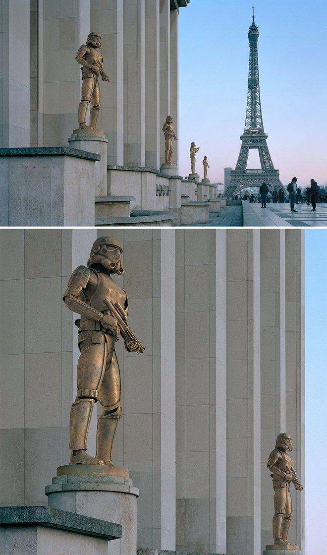Nhiếp ảnh gia chụp ảnh đài tưởng niệm rồi dùng CGI để thay thế bằng hàng loạt nhân vật đình đám của văn hóa đại chúng - Ảnh 2.