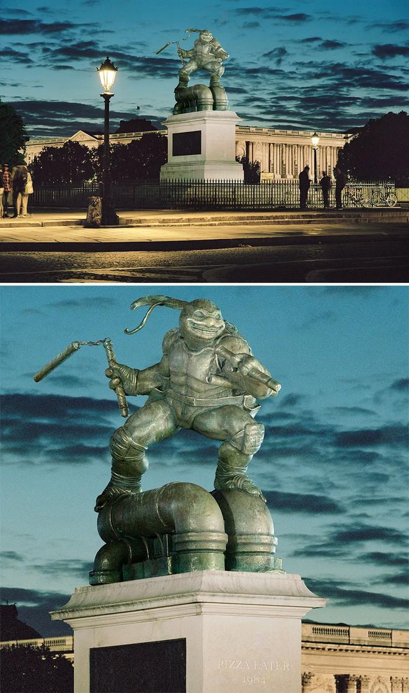Nhiếp ảnh gia chụp ảnh đài tưởng niệm rồi dùng CGI để thay thế bằng hàng loạt nhân vật đình đám của văn hóa đại chúng - Ảnh 3.