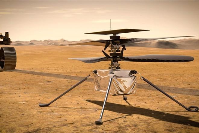 Chuyến bay lịch sử đầu tiên của trực thăng trên Sao Hỏa bị hoãn do gặp trục trặc bất ngờ - Ảnh 1.