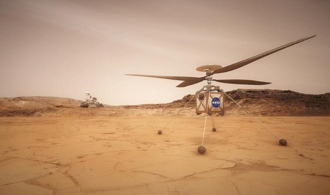 Chuyến bay lịch sử đầu tiên của trực thăng trên Sao Hỏa bị hoãn do gặp trục trặc bất ngờ - Ảnh 2.