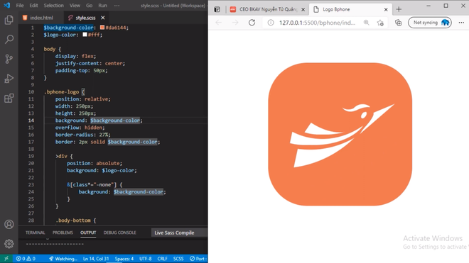 Không cần Photoshop hay Illustrator, người dùng vẽ icon công nghệ lõi của BKAV bằng HTML và CSS - Ảnh 3.