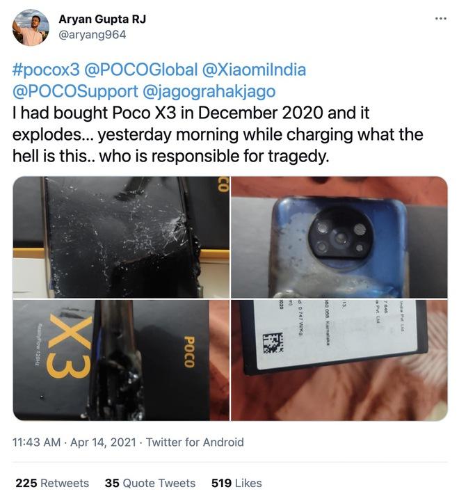 POCO X3 phát nổ khi đang sạc, Xiaomi chối bỏ trách nhiệm - Ảnh 2.