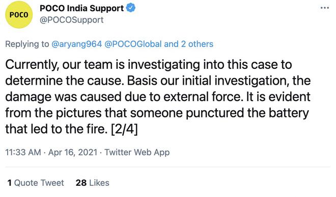 POCO X3 phát nổ khi đang sạc, Xiaomi chối bỏ trách nhiệm - Ảnh 3.