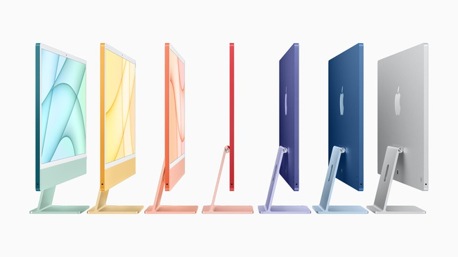 Apple ra mắt iMac 2021: Thiết kế mới, nhiều tuỳ chọn màu sắc, dùng chip M1, hỗ trợ Touch ID, giá từ 1299 USD - Ảnh 4.