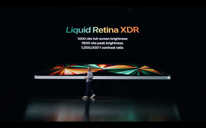 iPad Pro 2021 ra mắt: Màn hình Mini LED, chip M1, RAM 16GB, bộ nhớ trong 2TB, 5G, cổng Thunderbolt - Ảnh 1.