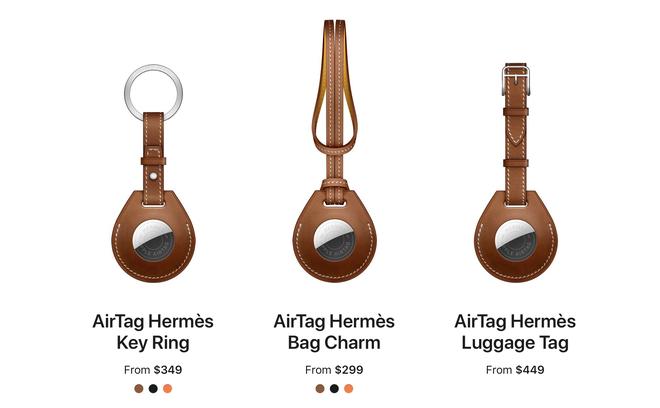 Apple cùng Hermes làm phụ kiện cho AirTag, giá gần 10 triệu đồng cho một chiếc... móc khoá - Ảnh 3.