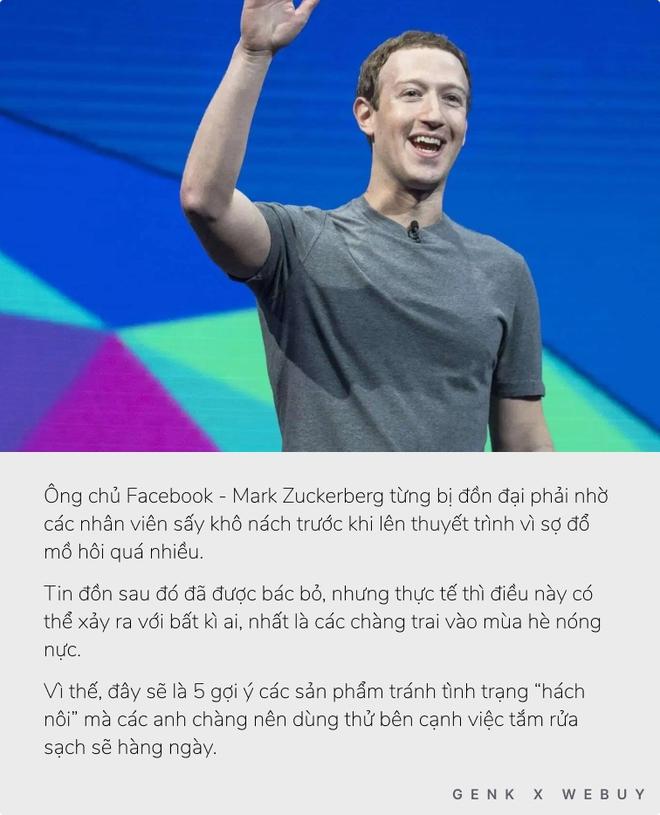 Ông chủ Facebook từng bị đồn nhờ nhân viên sấy nách vì mồ hôi nhiều và đây là loạt sản phẩm để bạn khỏi lo gặp tình trạng tương tự - Ảnh 1.