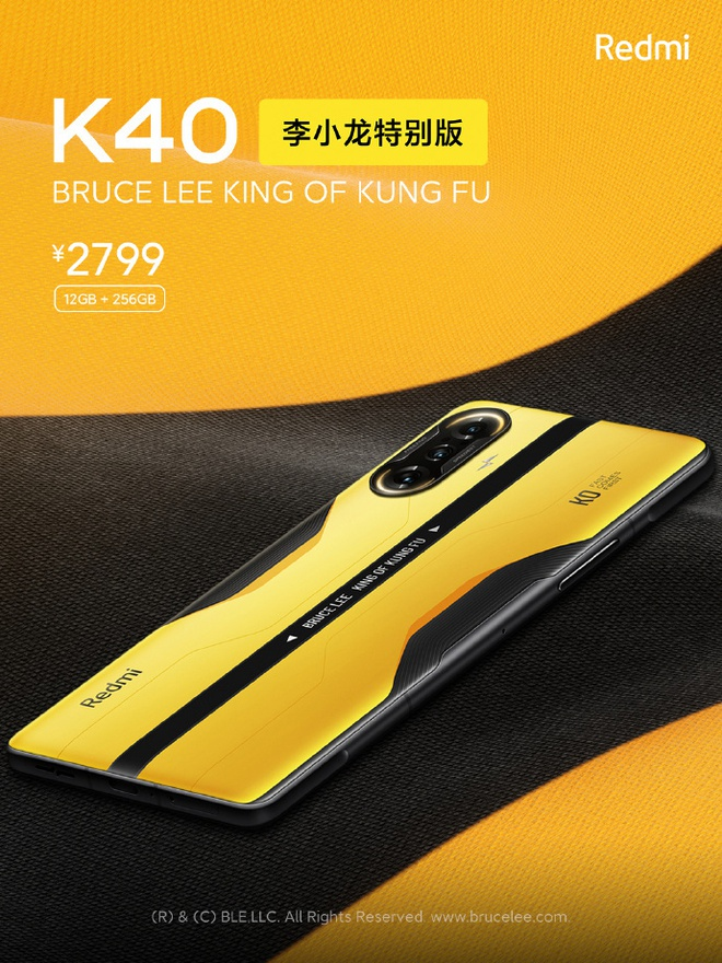 Redmi K40 Gaming Edition có thêm phiên bản Lý Tiểu Long đặc biệt, giá 9.9 triệu đồng - Ảnh 4.