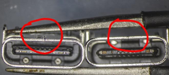 So sánh đầu nối USB-C loại 1 nghìn đồng và 5 nghìn đồng dưới kính hiển vi: đắt hơn gấp 5 nhưng chất lượng có hơn tương xứng? - Ảnh 8.