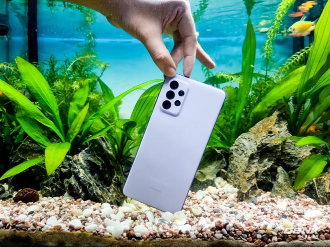 Thử khả năng kháng nước của Galaxy A72 với buổi chụp hình trong bể cá cảnh - Ảnh 2.