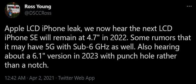 """iPhone SE 2022 sẽ hỗ trợ mạng 5G, thiết kế giống iPhone 11 trong khi iPhone SE 2023 sẽ bỏ """"tai thỏ""""? - Ảnh 2."""