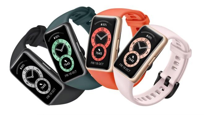 Huawei Band 6 ra mắt: Màn hình siêu to, cảm biến đo nhịp tim và nồng độ oxy, pin 14 ngày, giá 35 USD - Ảnh 1.